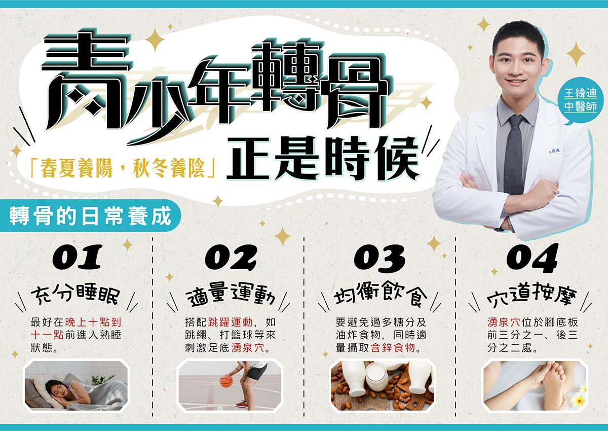 王緯迪醫師|青少年轉骨